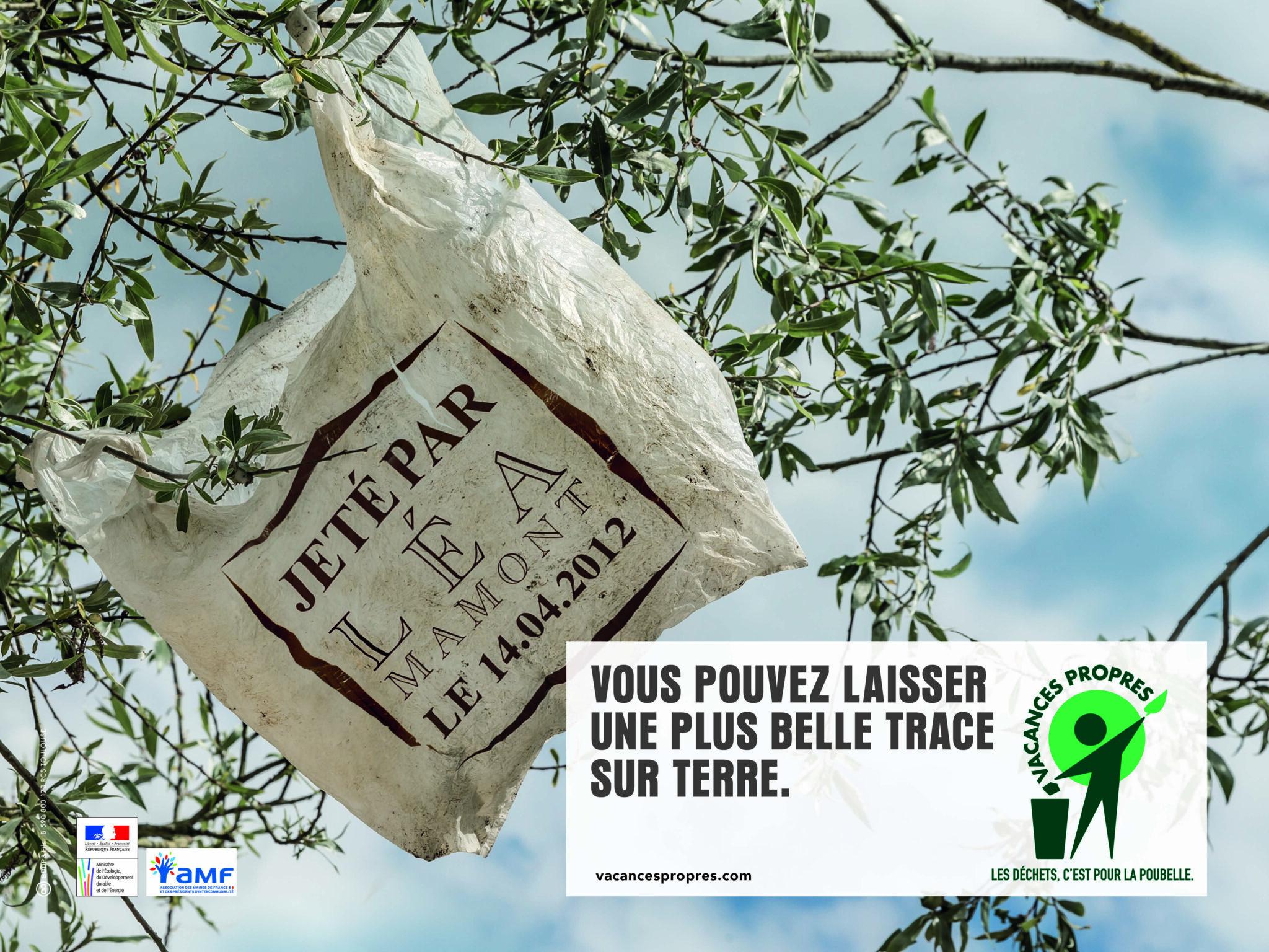 En montagne aussi dites stop aux déchets sauvages !