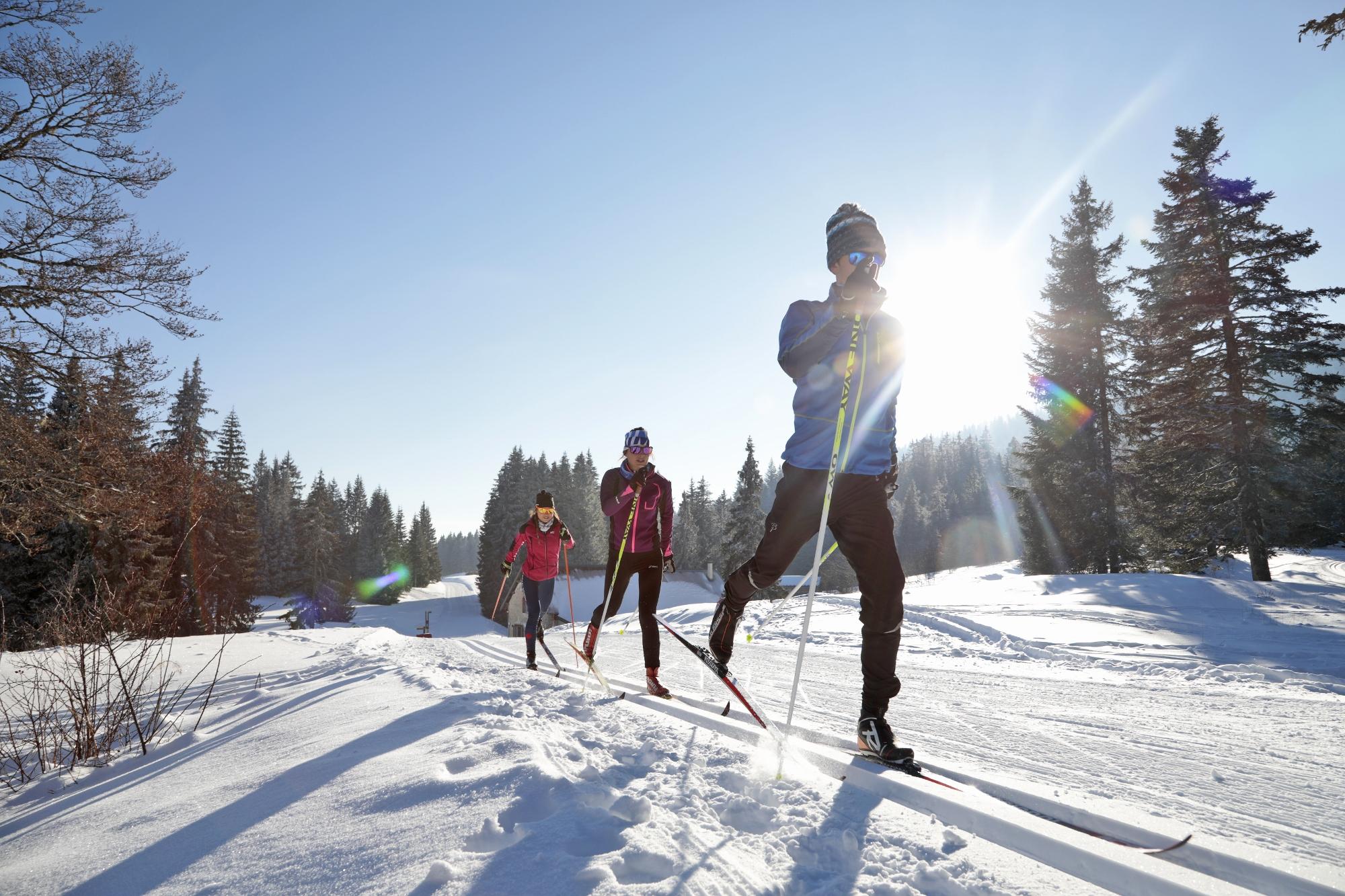 Le ski de fond popularisé par les JO de Grenoble puis la Foulée blanche ©Thomas Hytte