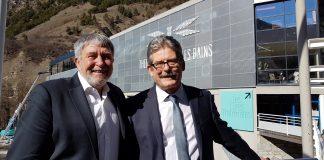 Didier Le Lostec, pdg des Thermes de Brides-les-Bains et Gérard Magat, leur directeur général