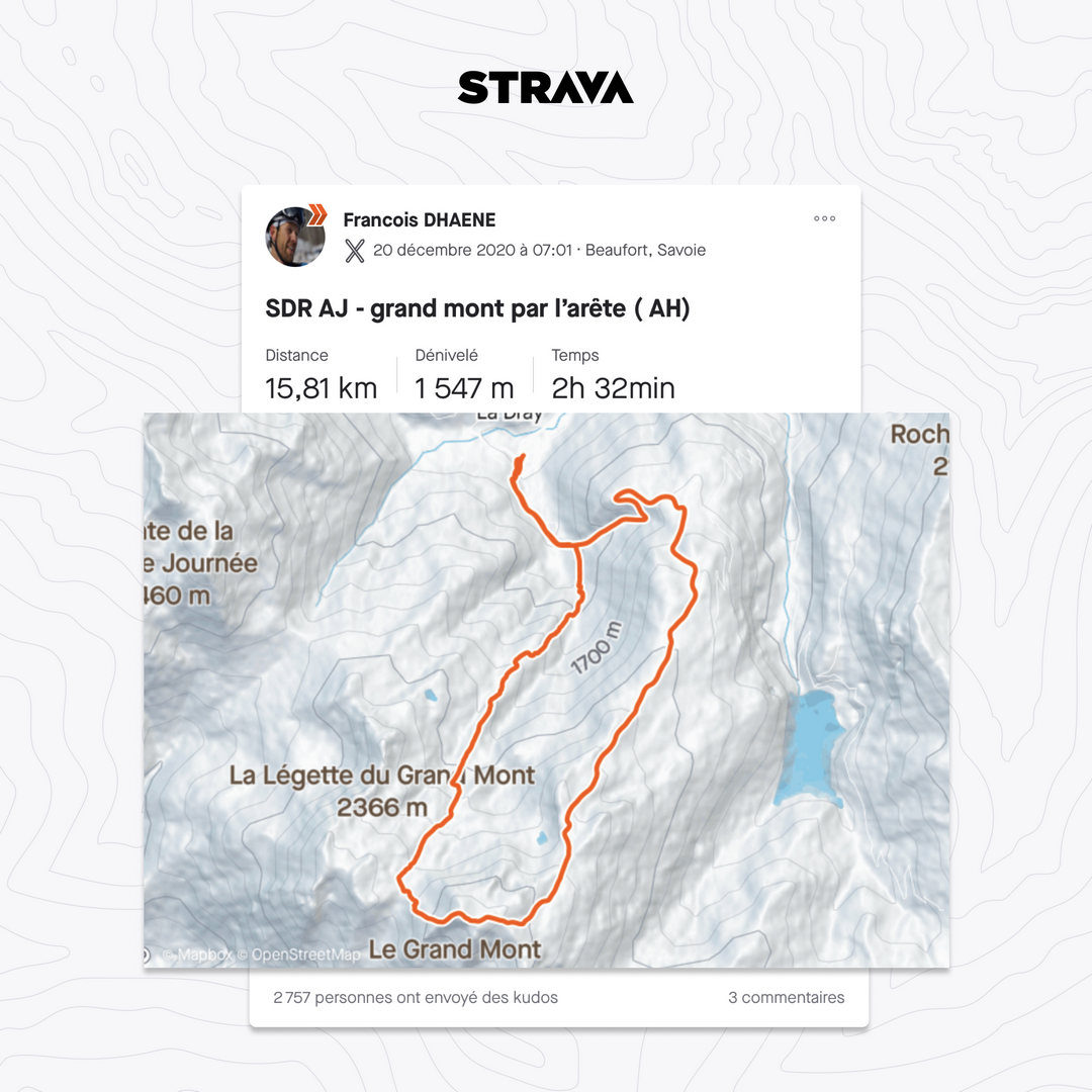 strava itinéraire sportif