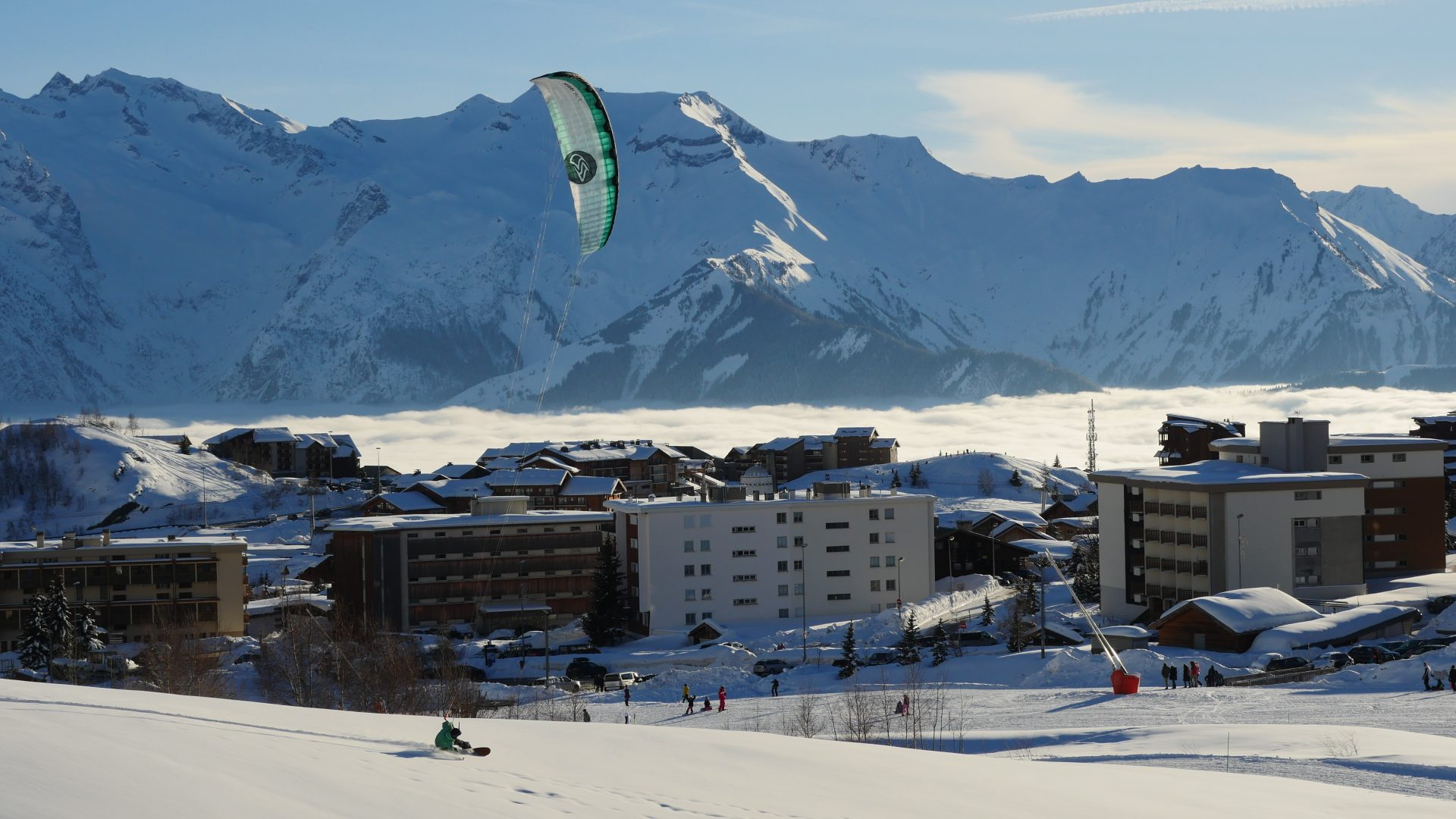snowkite alpes d huez