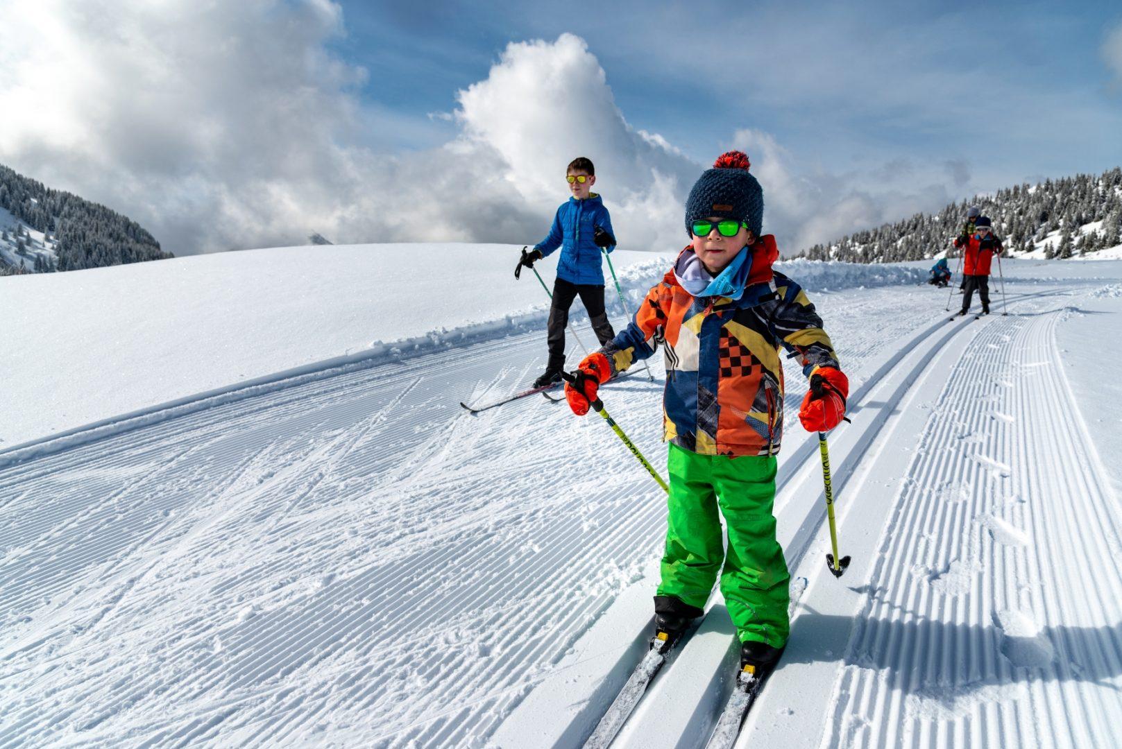 enfant, ski de fond