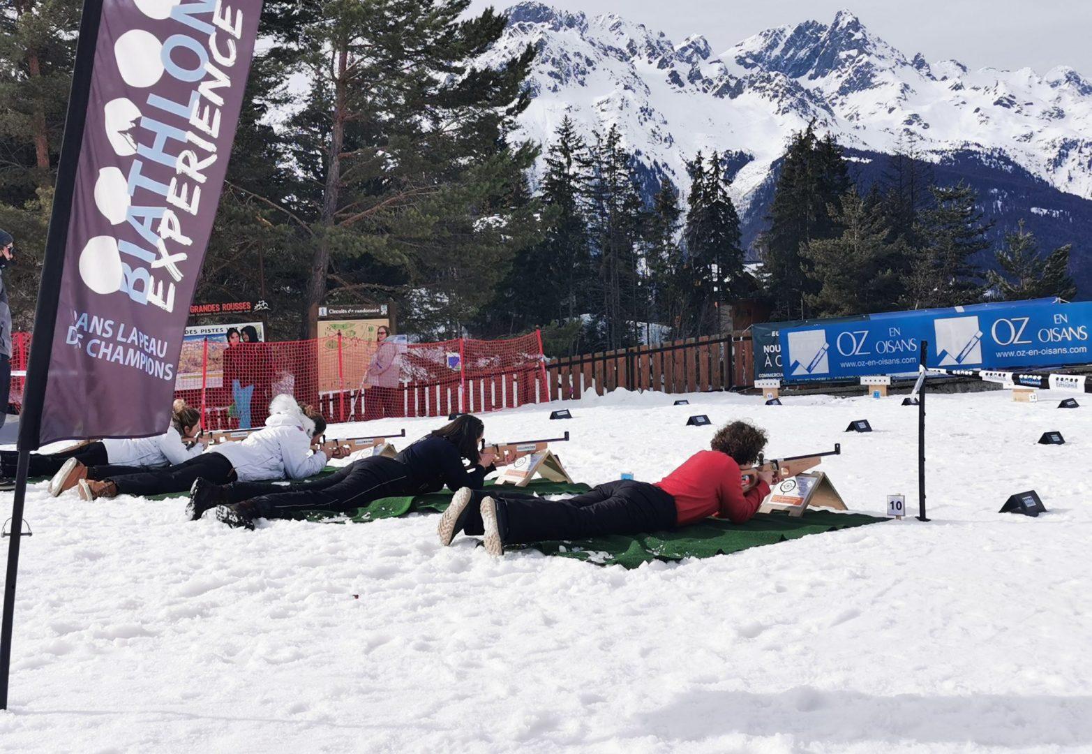 le tir biathlon oz en oisans