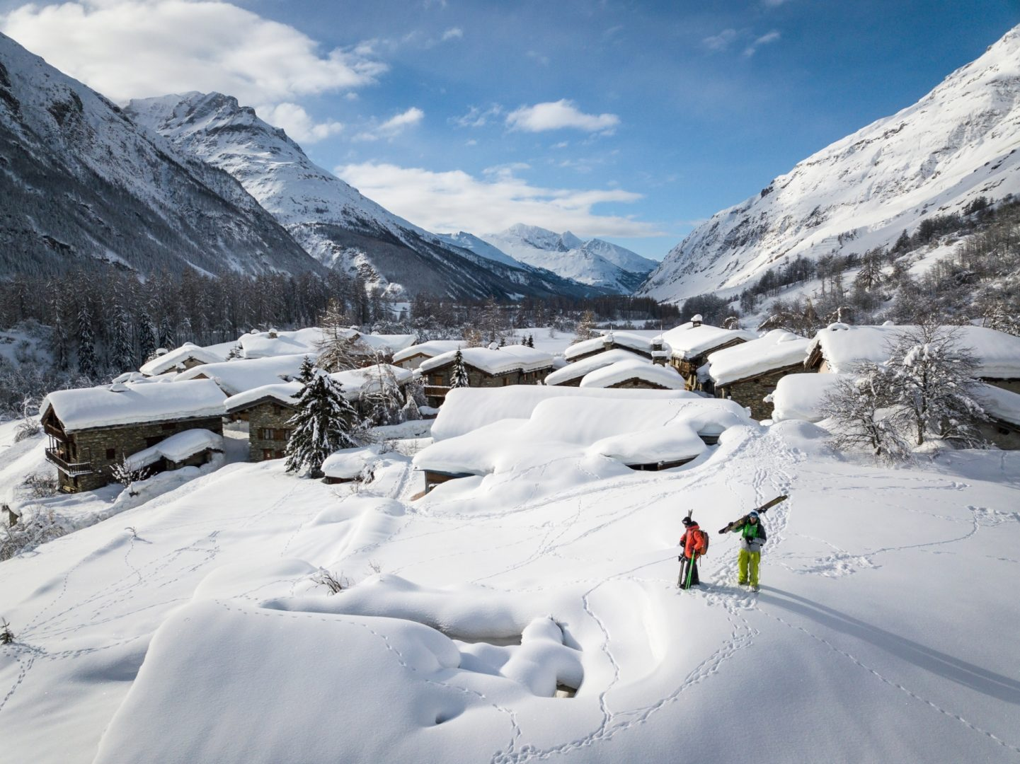 paysage neige savoie