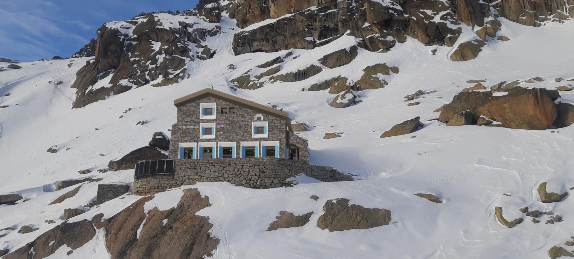 refuge du couvercle massif mont blanc