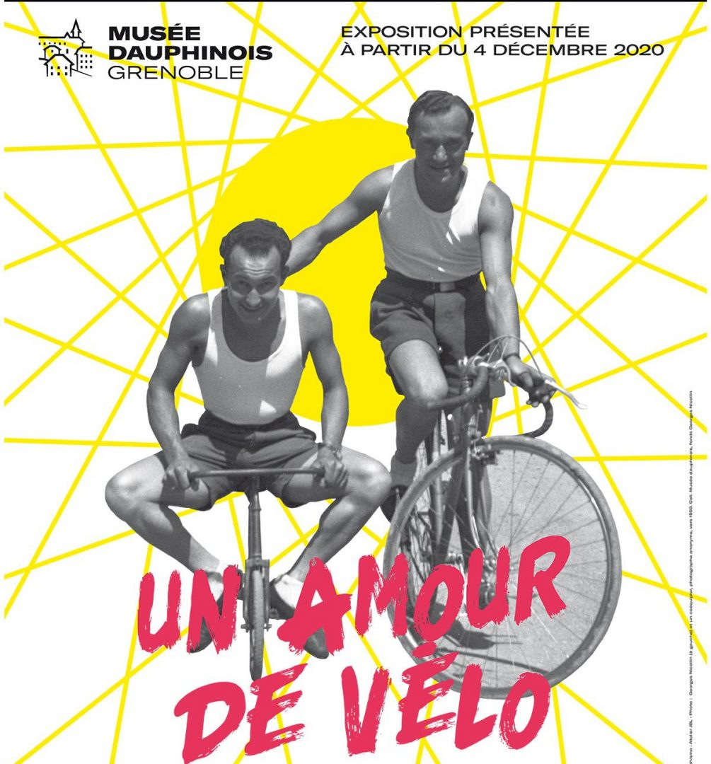 affiche exposition musee dauphinois un amour de velo