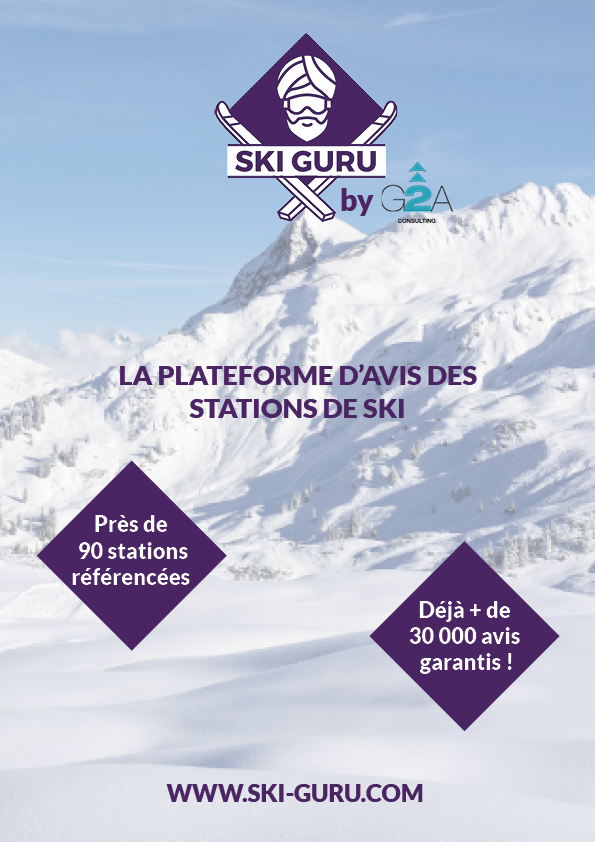 affiche ski guru